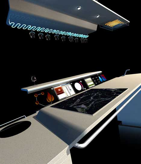 Futuristic Kitchen By Sebastien Poupeau
