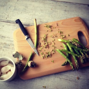 from the outdoors to the chopping board