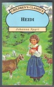 Heidi written by Johanna Spyri in 1880