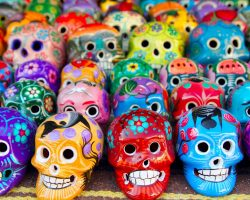 Mexican Day Of The Dead Skulls