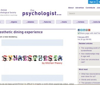 The Psychologist Magazine – A Synaesthetic Dining Experience