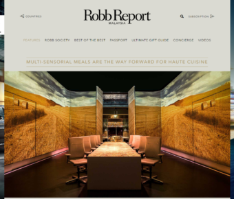Robbreport Malaysia Multi Sensoral Meals Are The Way For Haute Cuicine