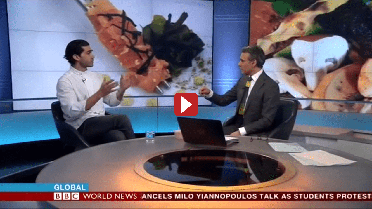Video -Chef Jozef Youssef Interview On BBC World News Exploring Gastrophysics